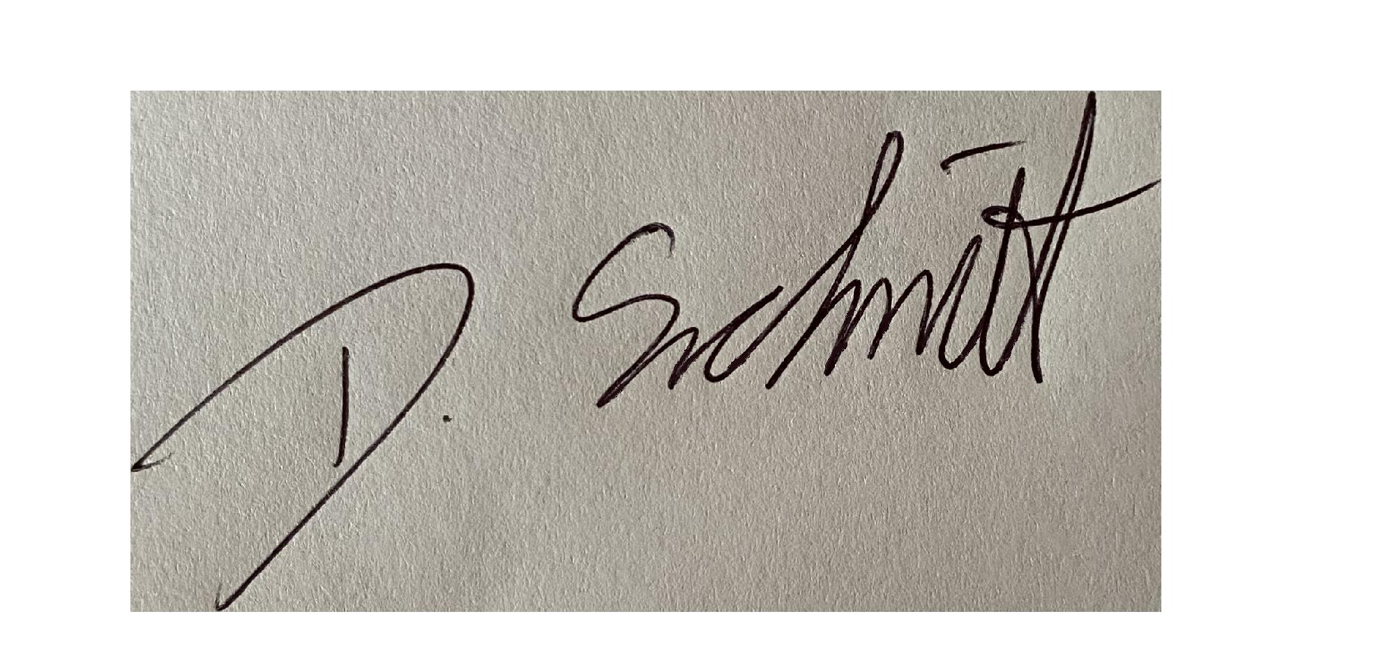 Unterschrift Diana Schmitt